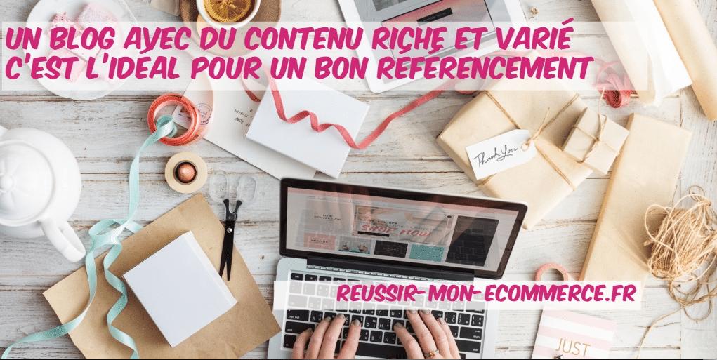 reussir blog boutique en ligne